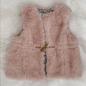 ZARA Kids Faux Fur Vest